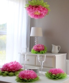 Simple and easy diy tissue paper flower garland 03