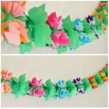 Simple and easy diy tissue paper flower garland 07