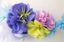 Simple and easy diy tissue paper flower garland 15