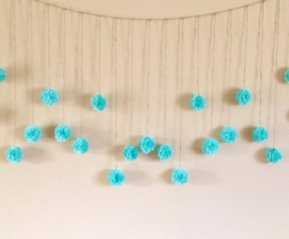 Simple and easy diy tissue paper flower garland 25