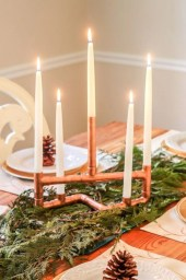 Stunning ideas to use copper pipes for your home decor 08