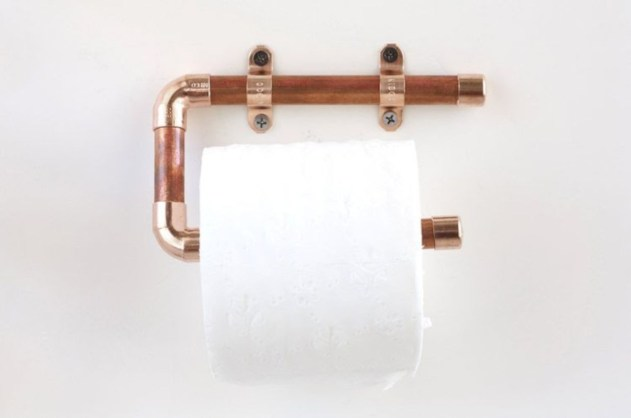 Stunning ideas to use copper pipes for your home decor 35