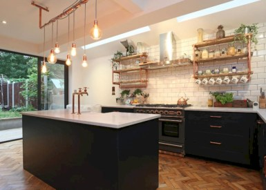 Stunning ideas to use copper pipes for your home decor 37