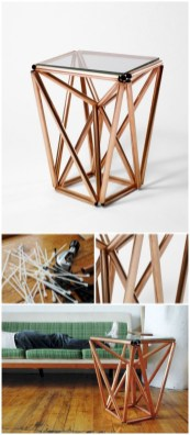 Stunning ideas to use copper pipes for your home decor 43