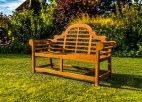 Teak garden benches ideas for your outdoor 18