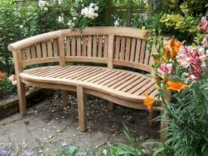 Teak garden benches ideas for your outdoor 28