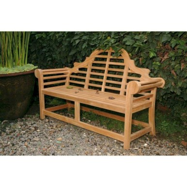 Teak garden benches ideas for your outdoor 33