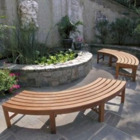 Teak garden benches ideas for your outdoor 35