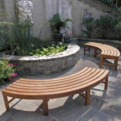 Teak garden benches ideas for your outdoor 35