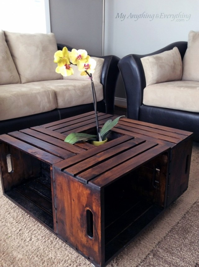 DIY Crates Coffee Tables You Can Build On A Budget