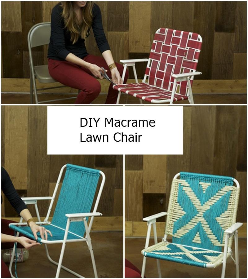 DIY Macrame Lawn Chair