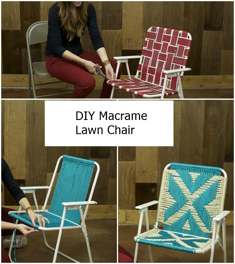 DIY Macrame Lawn Chair