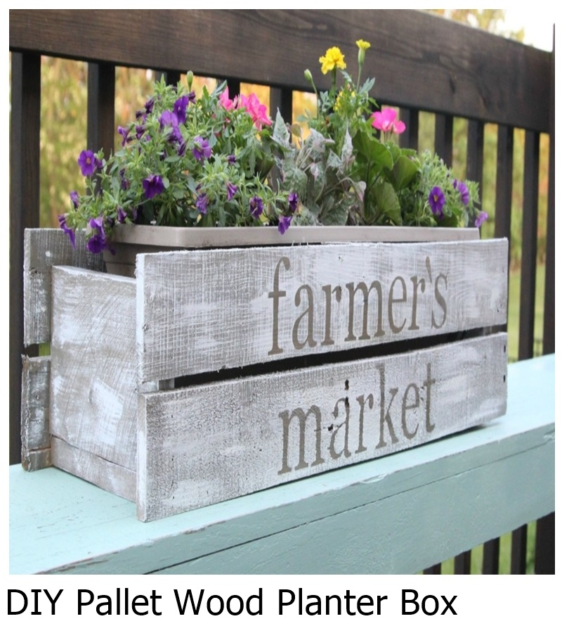 DIY Pallet Wood Planter Box