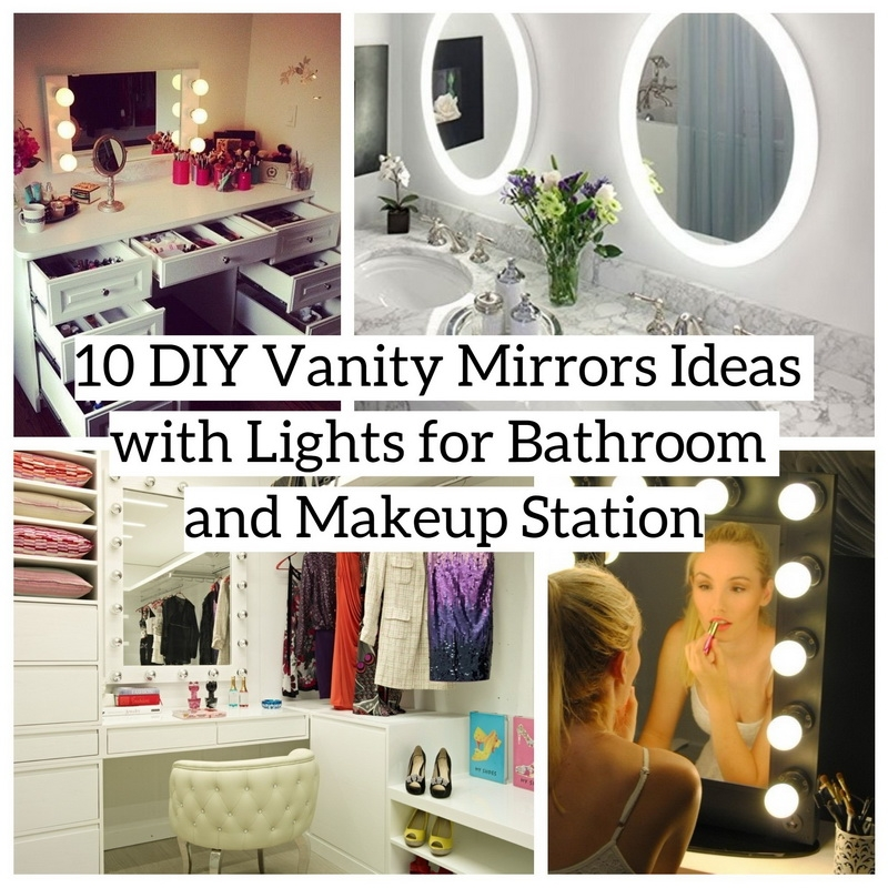 diy vanity for little girl. Even Little Girls Like To Imitate Her Mother Make Up And Look At Their  Faces In Front Of The Vanity 10 DIY Vanity Mirrors Ideas With Lights For Bathroom Makeup
