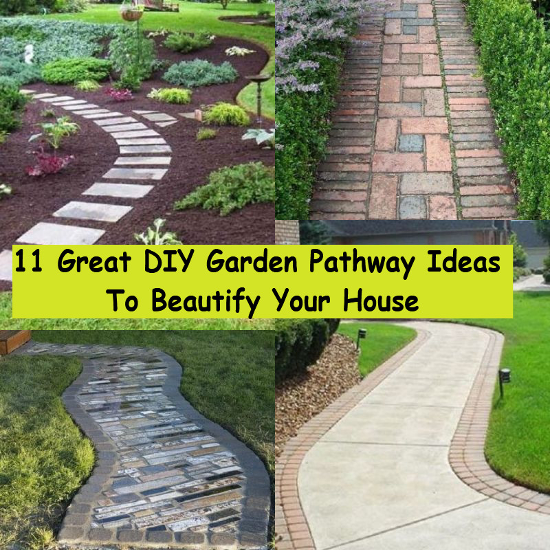 11 Great DIY Garden Pathway Ideas To Beautify Your House - GODIYGO.COM