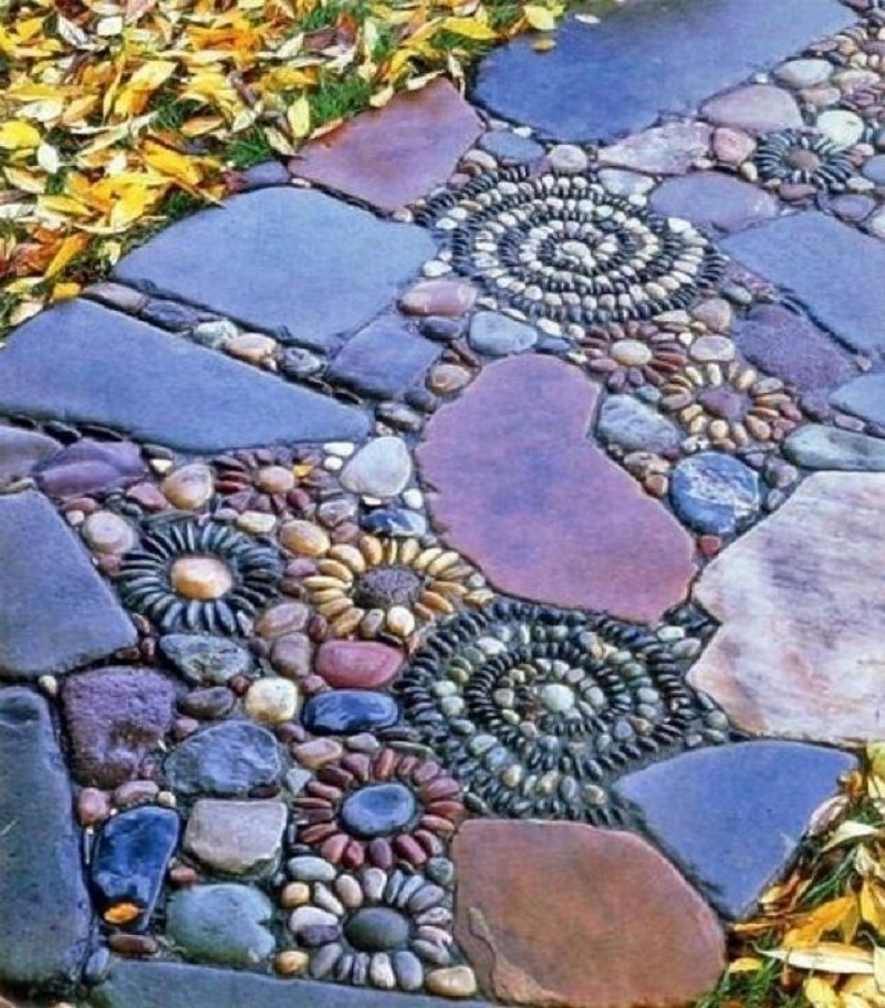 Pebble mosaic pathway