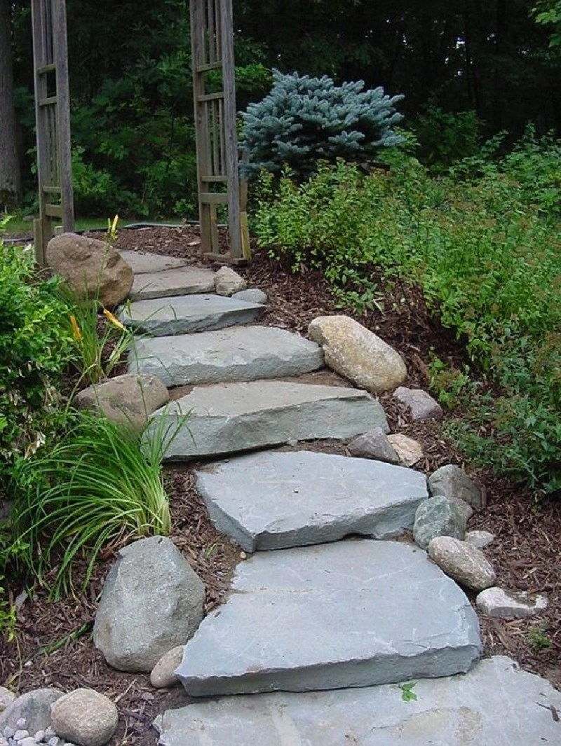 Stone step path