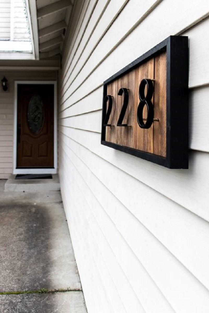 Diy house number 5