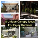 8 unique canopy ideas for enjoy summer
