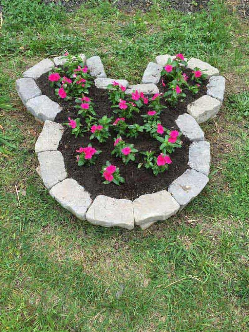 Concrete blocks garden bed