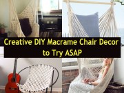 Creative diy macrame chair decor to try asap