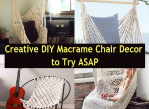 Creative diy macrame chair decor to try asap
