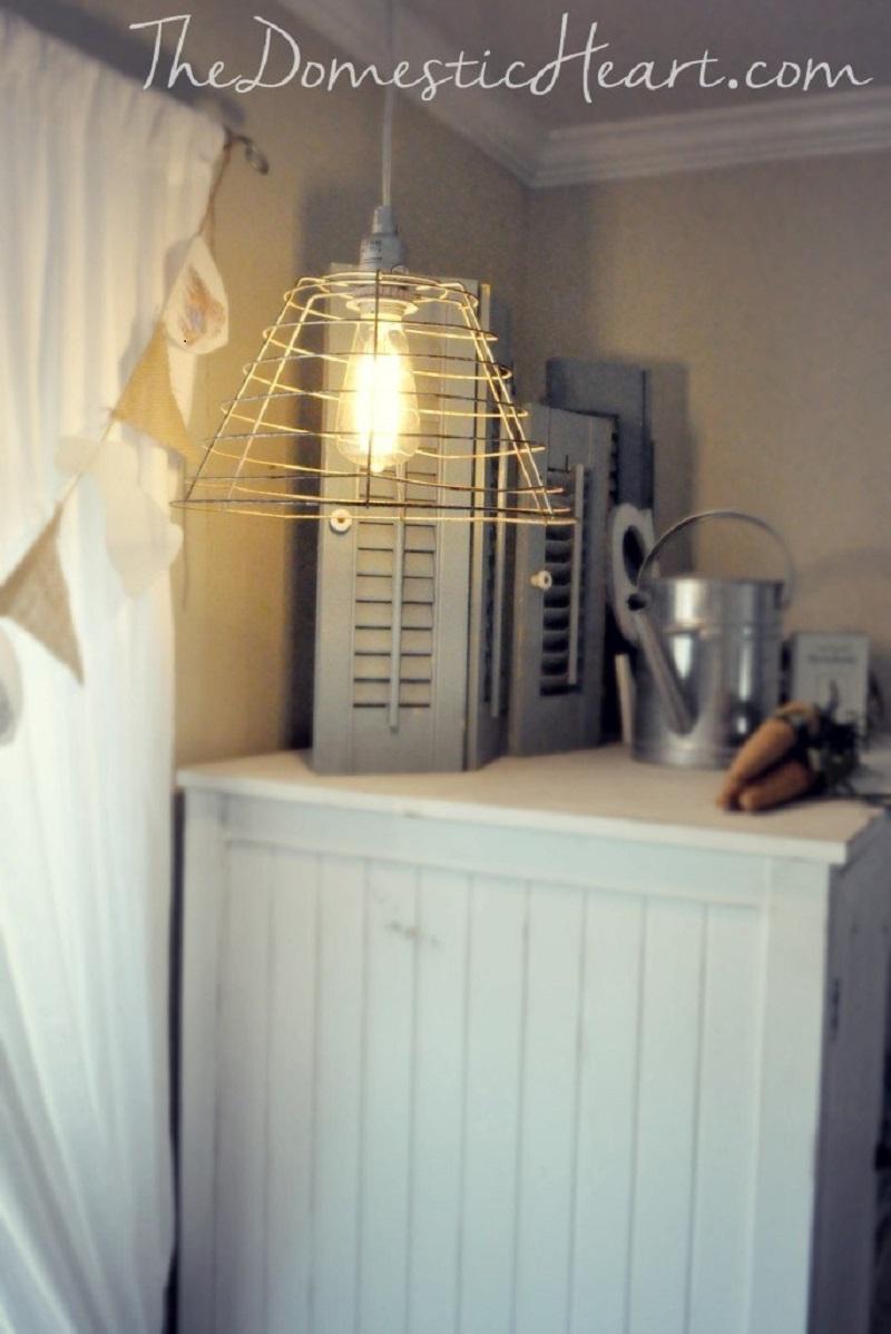 Diy vintage industrial pendant light