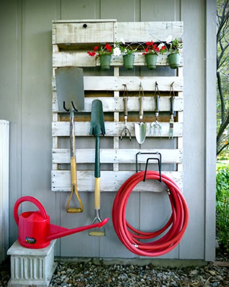 Garden tool storage area