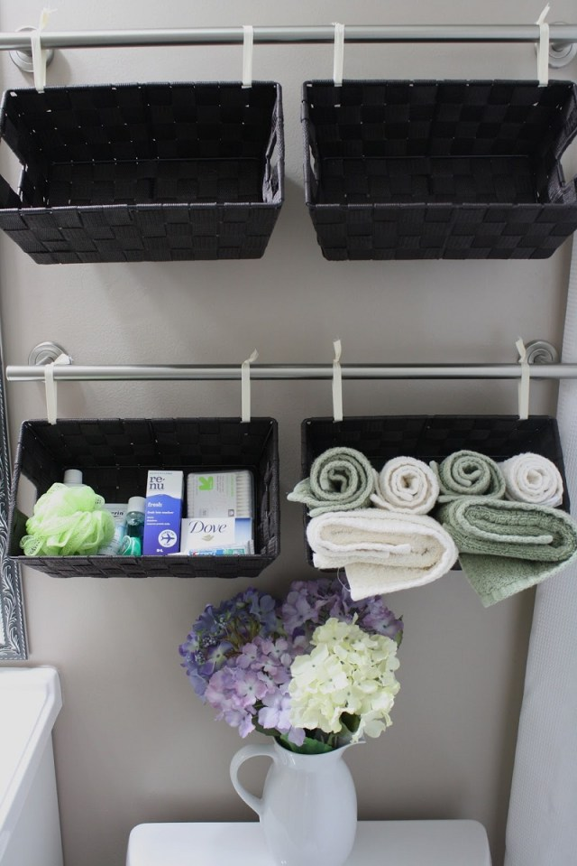 Rail and basket organizer