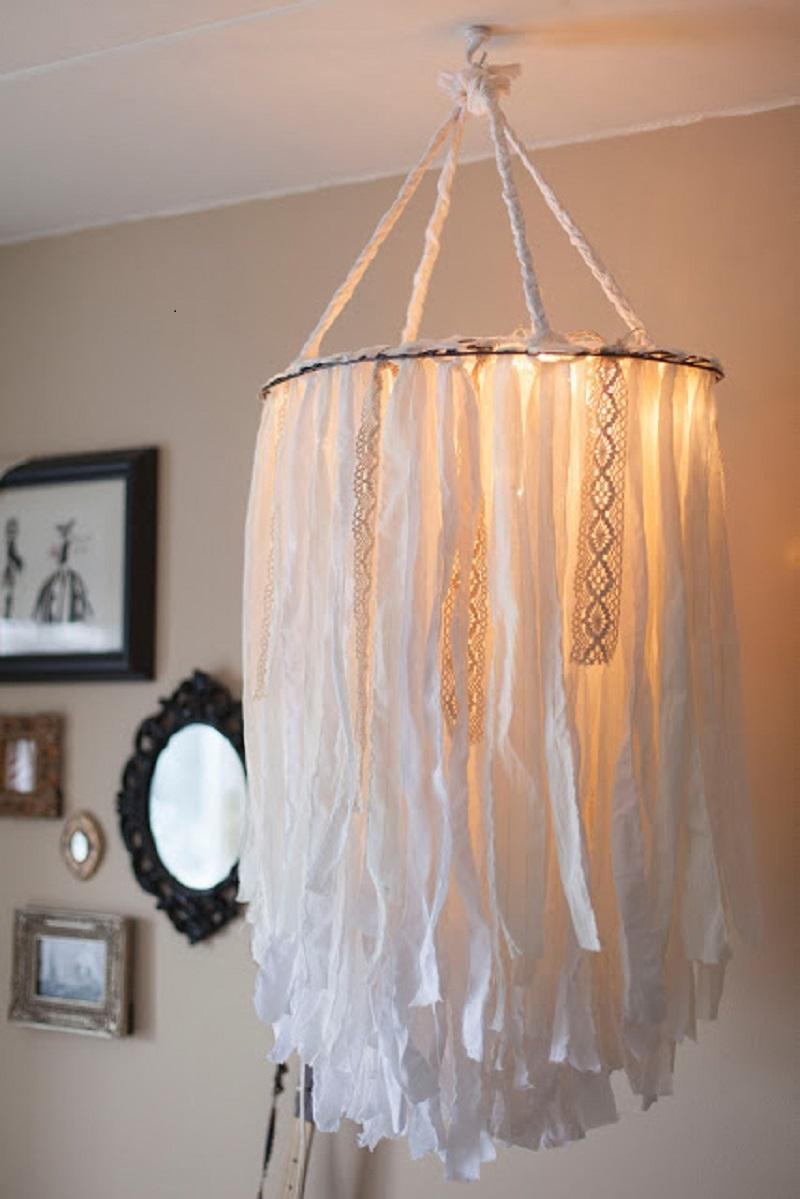 Statement cloth chandelier