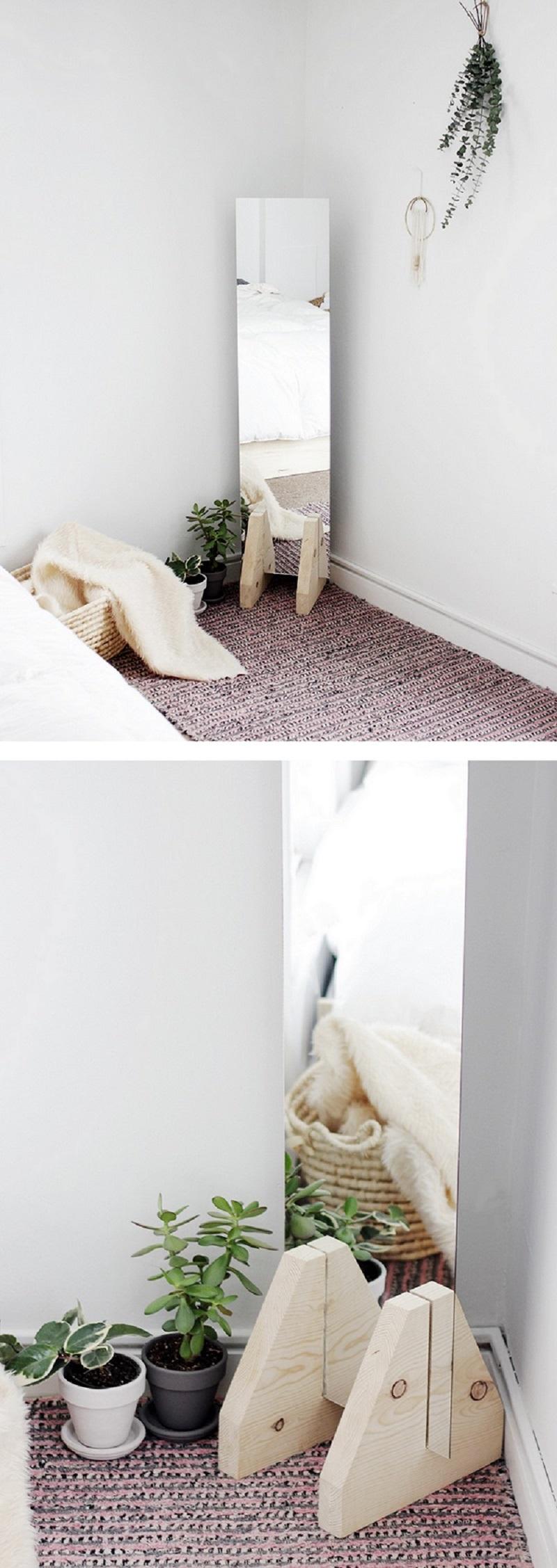 Minimalist floor mirror