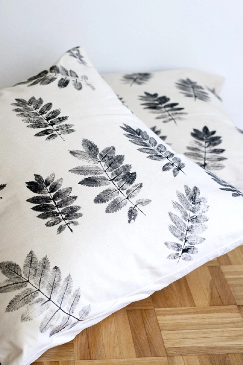 Diy plant printed pillow