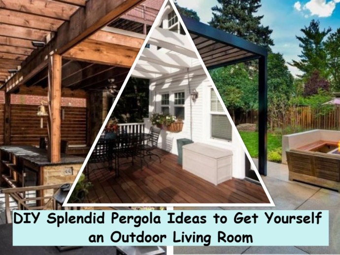 Diy splendid pergola ideas to get yourself an outdoor living room