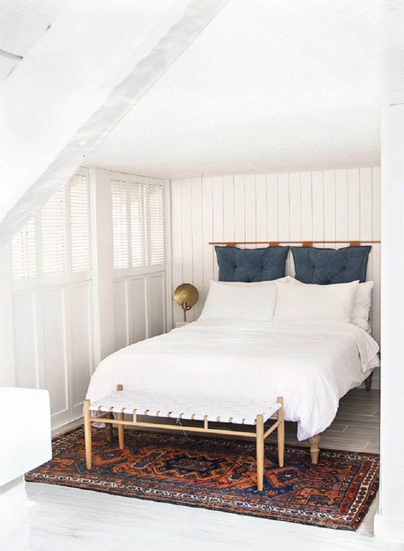 Copper pipe and pillow headboard