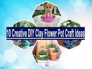 10 creative diy clay flower pot craft ideas