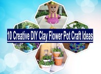10 creative diy clay flower pot craft ideas