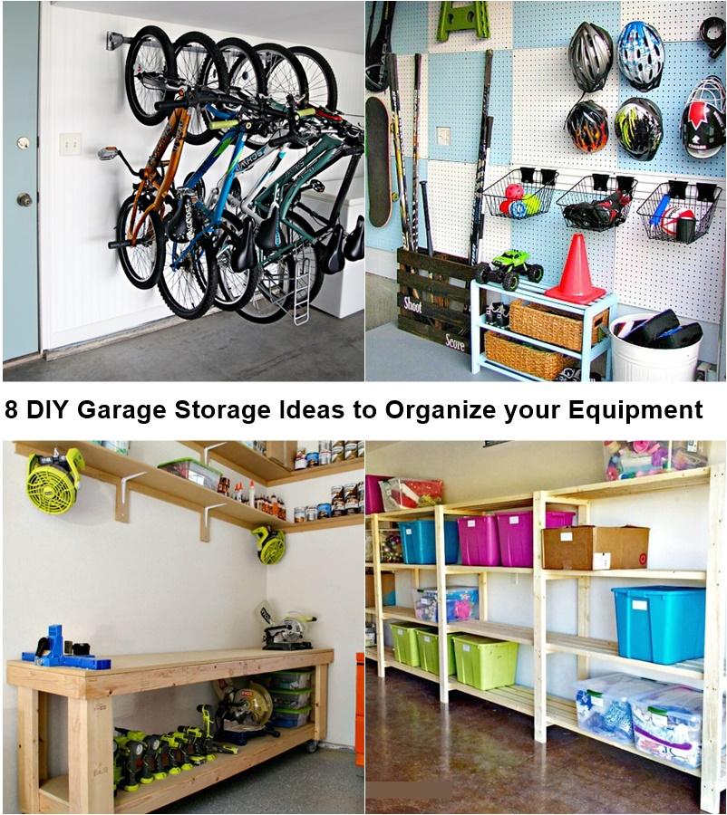 8 DIY Garage Storage Ideas to Organize your Equipment & 8 DIY Garage Storage Ideas to Organize your Equipment - GODIYGO.COM