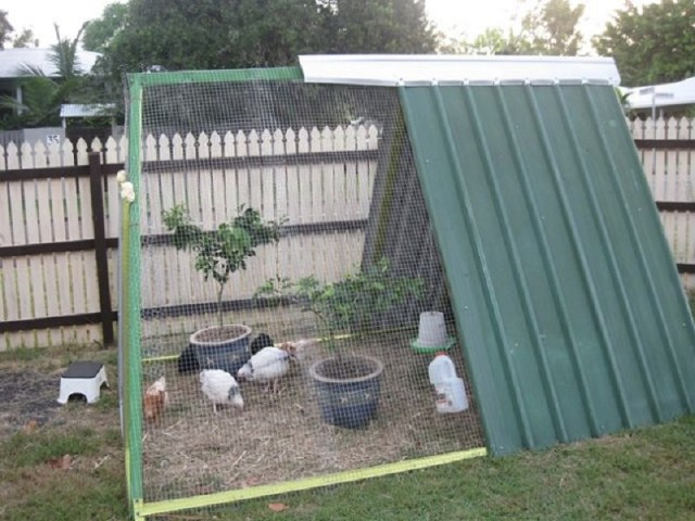 Triangle chicken coop