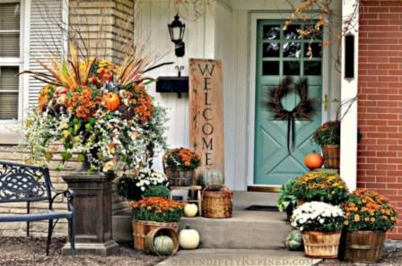 Awesome farmhouse fall decor porches 01