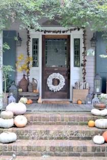 Awesome farmhouse fall decor porches 12