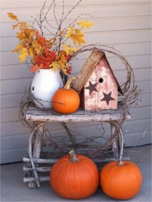 Awesome farmhouse fall decor porches 24