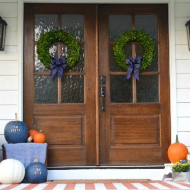 Awesome farmhouse fall decor porches 29