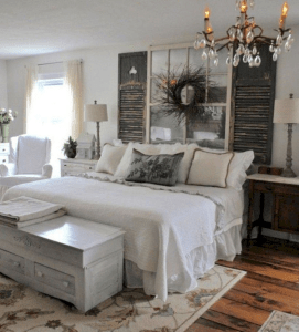 Best modern farmhouse bedroom decor ideas 21