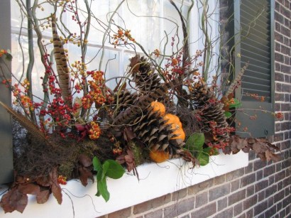 Cheap and easy fall window boxes ideas 25