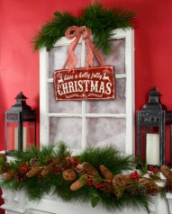 Cute farmhouse christmas decoration ideas 10