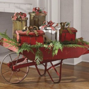Cute farmhouse christmas decoration ideas 19