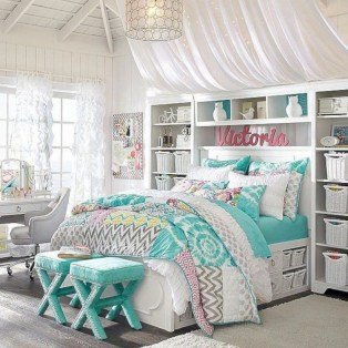 Easy and cute teen room decor ideas for girl 38