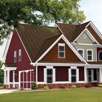Exterior paint colors for house with brown roof 09