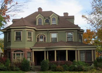 Exterior paint colors for house with brown roof 17