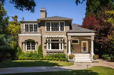 Exterior paint colors for house with brown roof 43